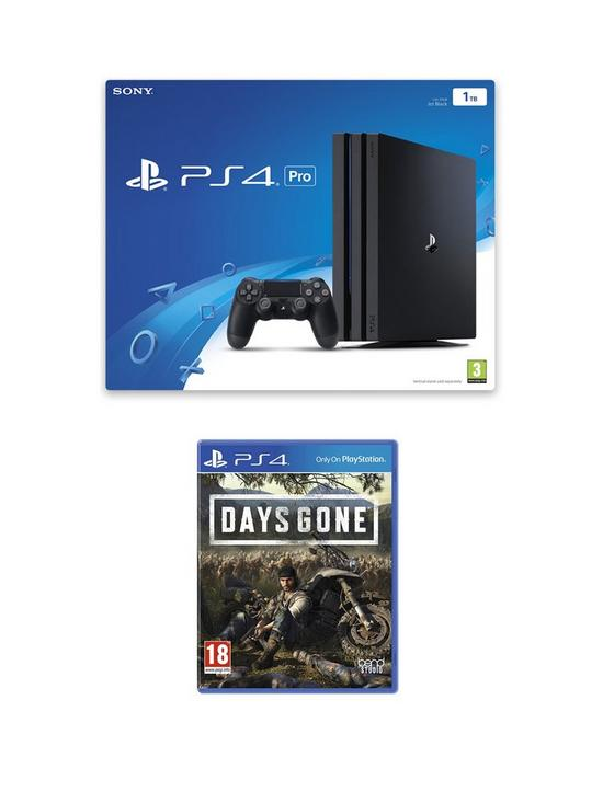 PS4 Black Pro Bundle with Days Gone and Optional Extras