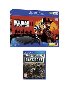 playstation-4-red-dead-redemption-2-ps4-500gb-bundle-with-days-gone-with-optional-extras