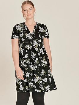 evans-black-floral-print-tunic
