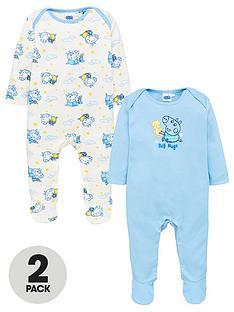 peppa-pig-baby-boys-2-pack-george-pig-sleepsuits-multi