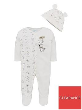 winnie-the-pooh-baby-unisexnbspsleepsuit-amp-hat-set-multi