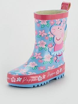 peppa-pig-girls-3d-fairy-wellies-pink
