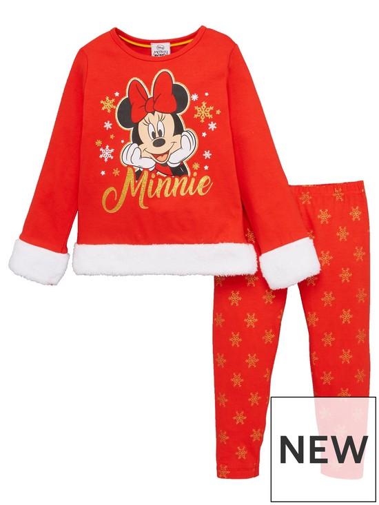 Minnie Mouse Christmas Dress.Girls Christmas Pyjamas Red