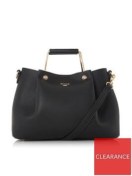dune-london-darlownbspmedium-metal-handle-tote-bag-black