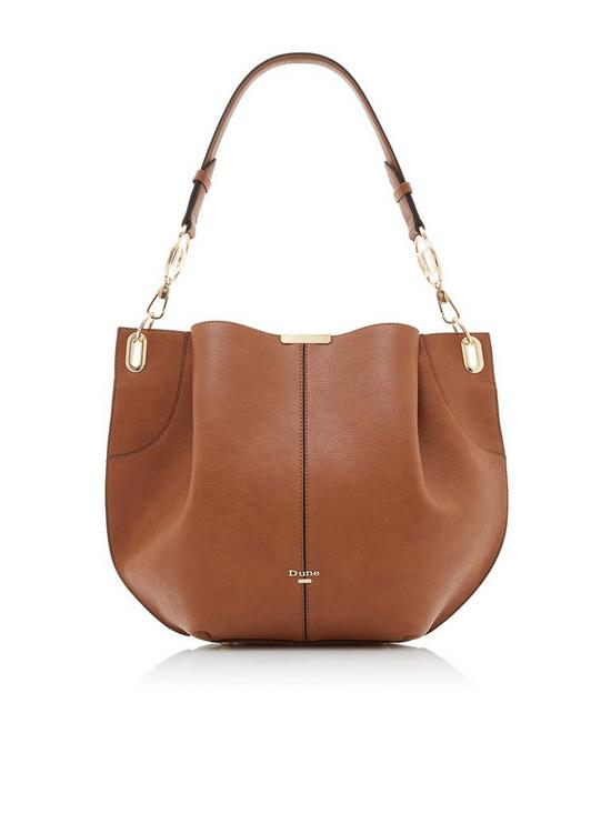 3117a6120c90 Derly Large Pleated Slouch Bag - Tan