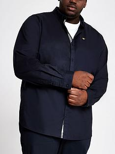 river-island-long-sleeve-navy-big-tall-oxford-shirt