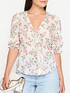for-love-lemons-ganache-floral-print-button-blouse-cream