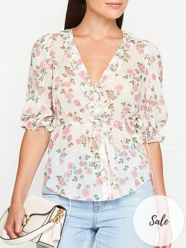 for-love-lemons-ganache-floral-print-button-blouse-cream