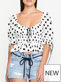 for-love-lemons-mochi-polka-dot-blouse-ivory
