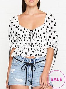 for-love-lemons-mochi-polka-dot-blouse-ivory