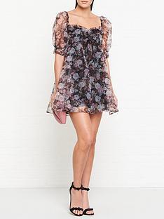 for-love-lemons-faye-baby-doll-floral-print-dress-black