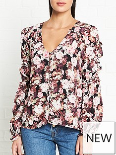 for-love-lemons-eclipse-floral-print-blouse-black