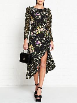 for-love-lemons-ross-floral-print-midi-dress-black
