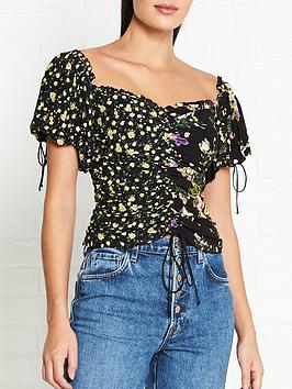 for-love-lemons-eileen-off-the-shoulder-floral-print-top-black
