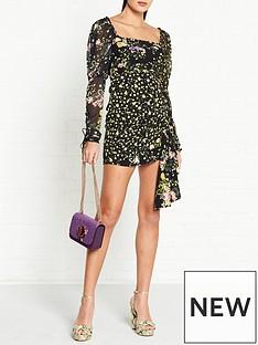 for-love-lemons-eileen-floral-print-mini-dress-black