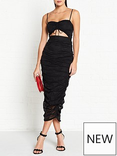 for-love-lemons-poison-ruched-pencil-dress-black