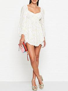 for-love-lemons-strudel-floral-print-mini-dress-cream