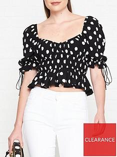 for-love-lemons-mochi-polka-dot-blouse-black