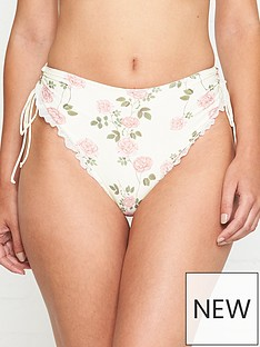 for-love-lemons-gelato-floral-print-high-waist-bikini-bottoms-cream