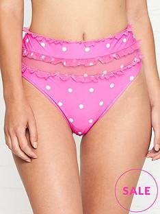 for-love-lemons-tutti-frutti-polka-dot-high-waist-bikini-bottoms-pink