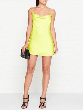 for-love-lemons-meringue-neon-cowl-neck-mini-dress-lime
