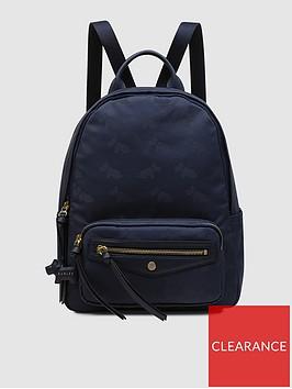 radley-jacquard-medium-zip-around-backpack-ink