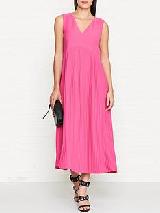 kenzo-pleated-sleeveless-midi-dress-pink