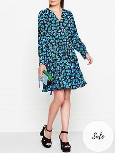 kenzo-ditsy-peonie-print-tunic-dress-blue