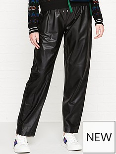 kenzo-leather-trousers-black