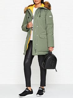 kenzo-faux-fur-hood-parka-coat-khaki