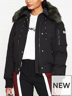 kenzo-short-faux-fur-hood-parka-jacket-black