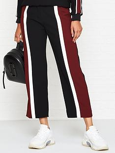 kenzo-colour-block-crop-trousers-black