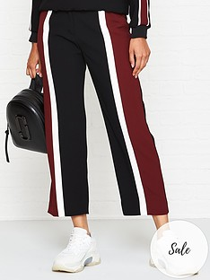 kenzo-colour-block-crop-trousers-black