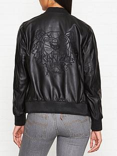 kenzo-embroidered-tiger-back-leather-bomber-jacket-black