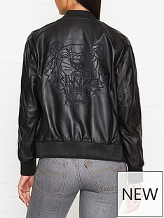 kenzo-embroidered-tiger-back-leather-bomber-jacket-black