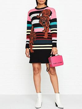 kenzo-double-tiger-knitted-stripe-dress-multi