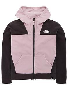 the-north-face-girls-glacier-full-zip-fleece-hoodie-lilacgrey