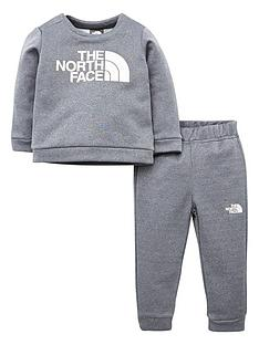 the-north-face-infant-surgent-crew-set-grey