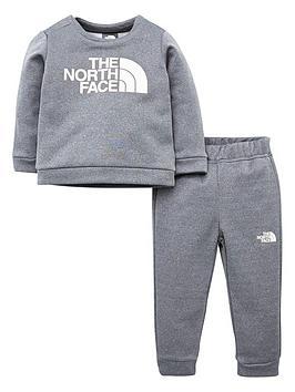 the-north-face-infant-surgent-crew-set-grey