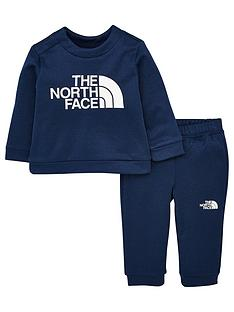 the-north-face-infant-surgent-crew-set-navy