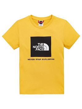 the-north-face-youth-box-short-sleeve-tee-yellow