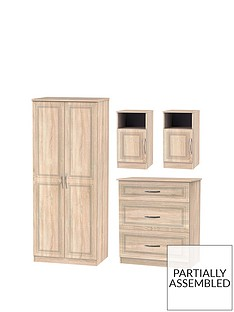 winchester-4-piece-ready-assembled-package-2-door-wardrobe-graduated-3-drawer-chest-and-2-bedside-chests