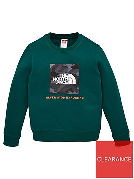 the-north-face-youth-box-crew-sweat-green