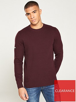 superdry-academy-crew-neck-jumper-burgundy