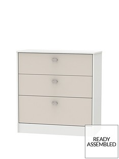 Sahara Ready Assembled 3 Drawer Graduated Chest
