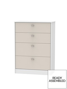 Sahara Ready Assembled 4 Drawer Graduated Chest