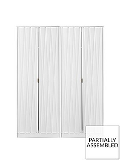 SWIFT Versailles Part Assembled 4 Door Wardrobe