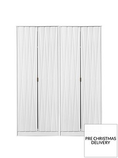 SWIFT Versailles Part Assembled 4 Door Wardrobe