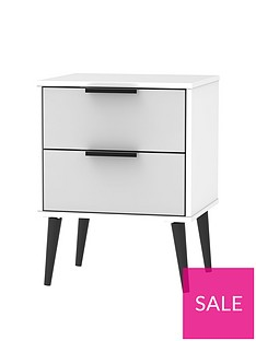 swift-copenhagen-ready-assembled-2-drawer-bedside-table