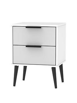 Swift Copenhagen Ready Assembled 2 Drawer Bedside Table